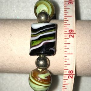 Jewelry - New Artisan Glass Bead Stretch Bracelet